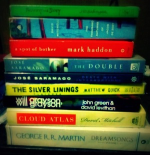 Books I bought with the GCs I won early this year.